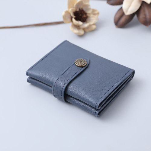 handmade leather wallet bi-fold wallet clasp