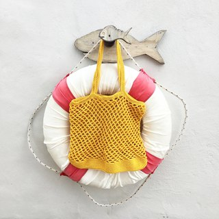 Yellow Natalia Crochet Bag
