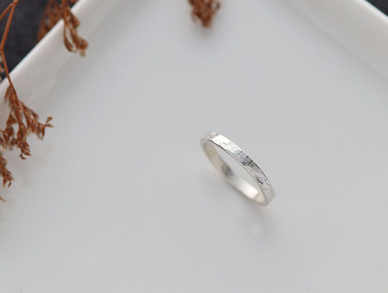 Ni.kou sterling silver irregular grain ring