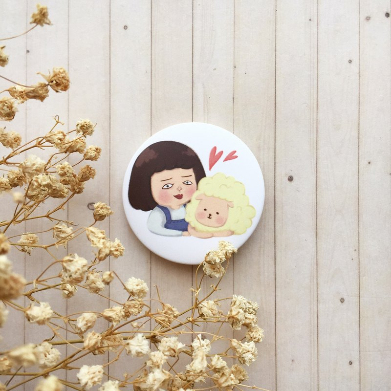 Mary and sheep | badge