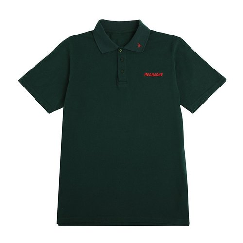 HEADACHE headache POLO shirt dark green