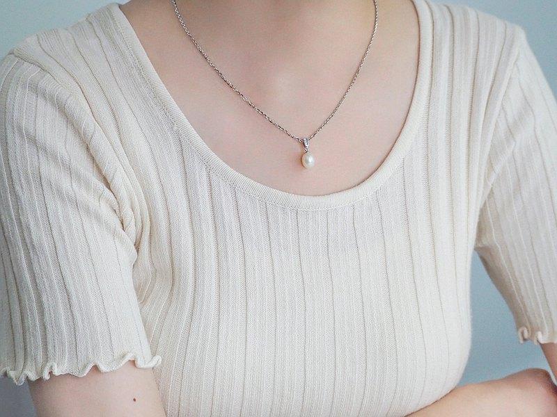 春吹雪 | 天然珍珠項鍊 / 淡水珍珠 *簡約經典