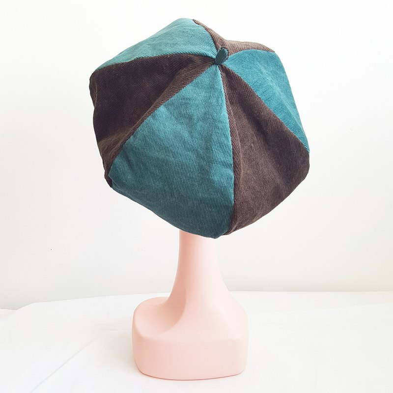 Handmade Beret | Double sided (Mint Chocolate)