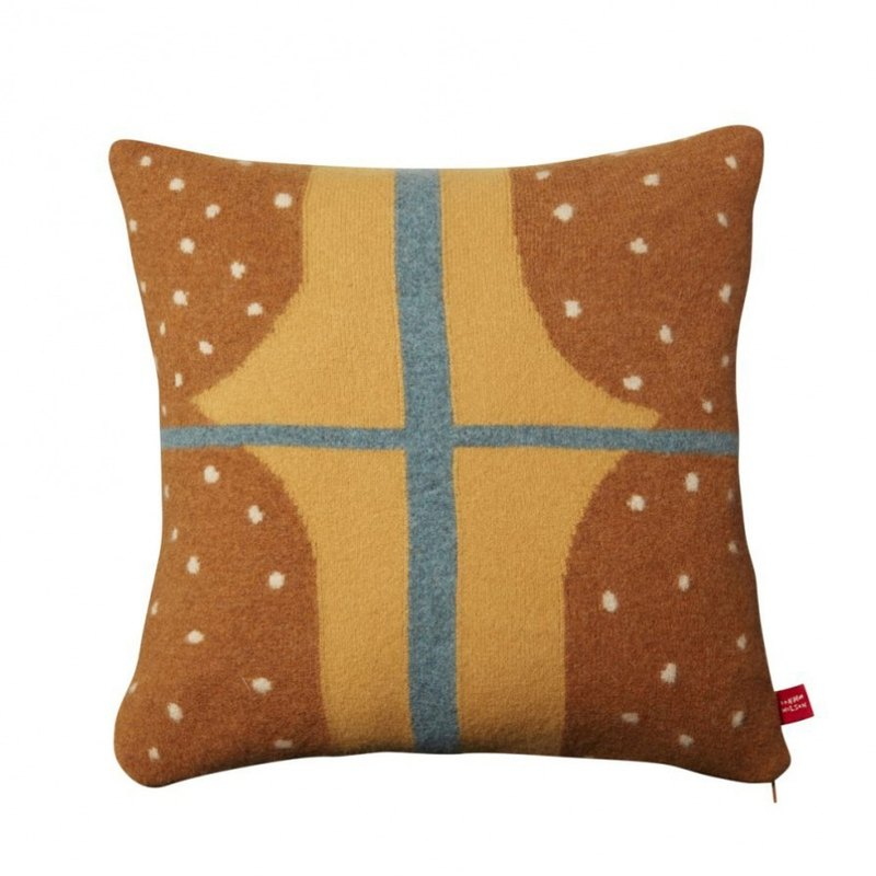 Window Pure Wool Pillow - Brown | Donna Wilson