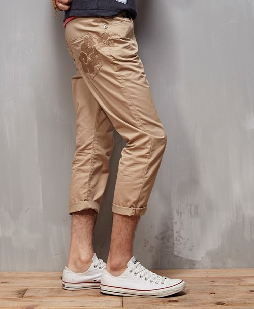Function-based breathable cool feeling khaki pants seven small collapse