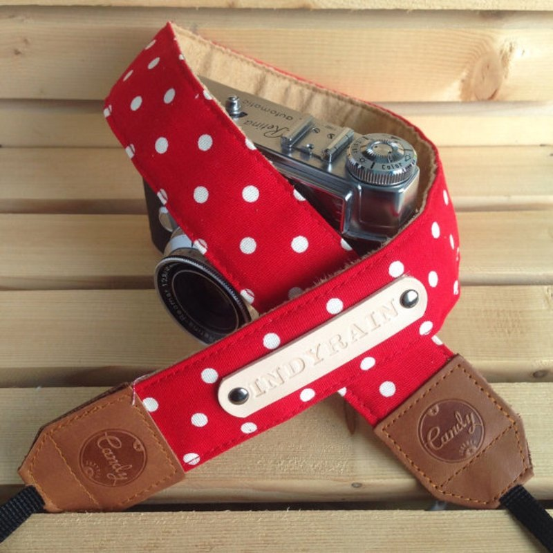 Red Polkadot Mirrorless or DSLR Camera Strap