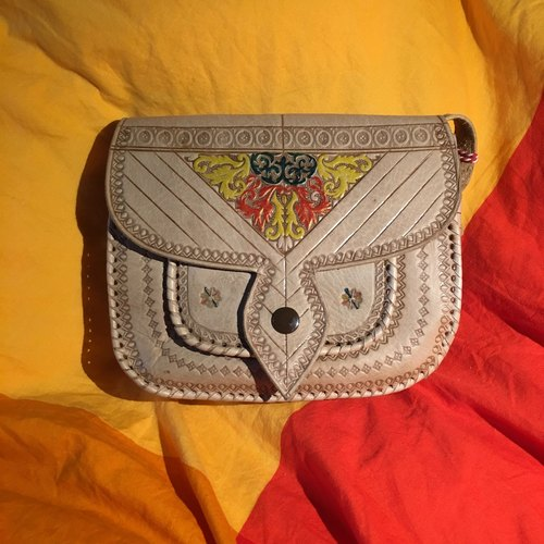Moroccan hand color camel bag - salawi