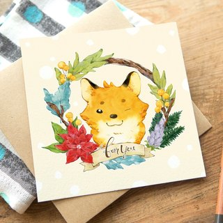 OURS Greeting Card - Fox - by Koopa