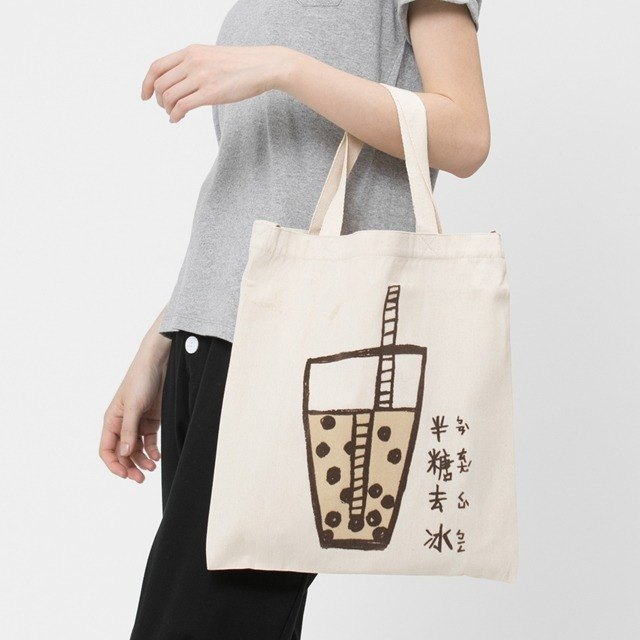 Bubble tea Cotton Shopping bag