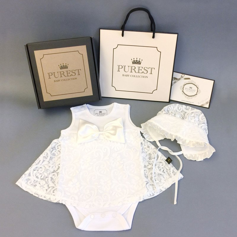 PUREST Royal Lace Princess gorgeous dress / gift box / baby Mi Yue / birthday / gift preferred