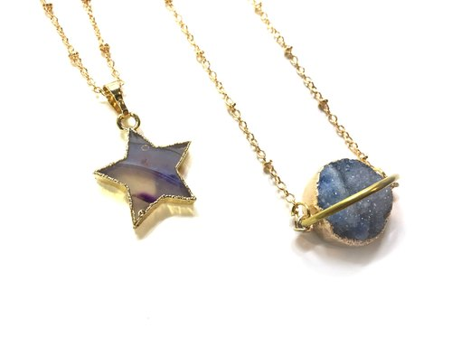 Agate necklace (star)