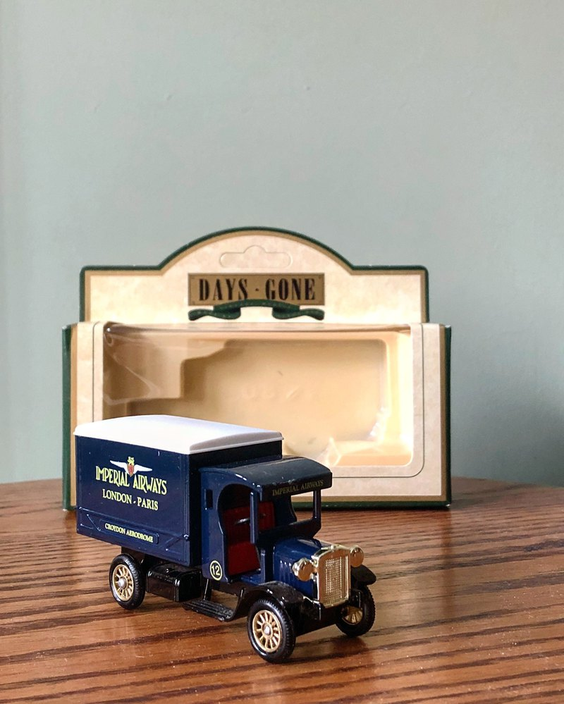 British system early dark blue 1920s transport car J