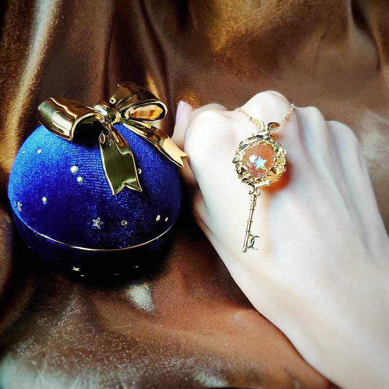 GlassophyxTamasii Crossover~Moon Star at Dusk x SilverMoon Key Pendant Xmas Set