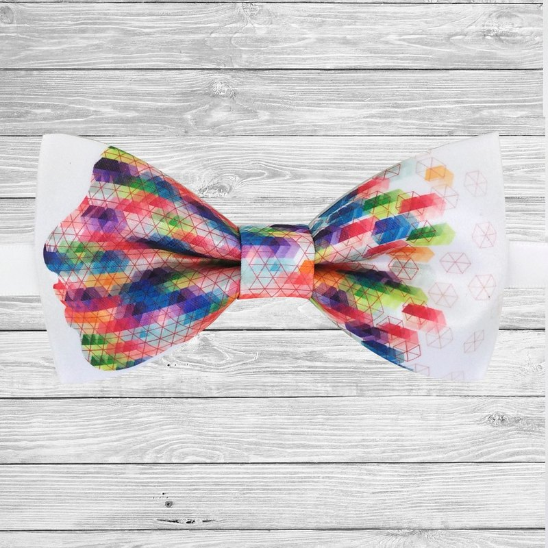 彩色一面領結, color facebow tie, 彩色項鏈