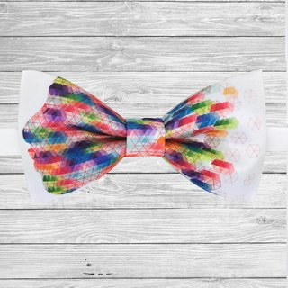 Colored bow tie, color facebow tie, colored necklace
