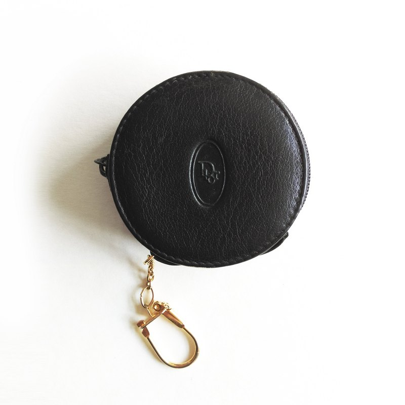 A ROOM MODEL - VINTAGE, BD-0550 Christian Dior black circle purse