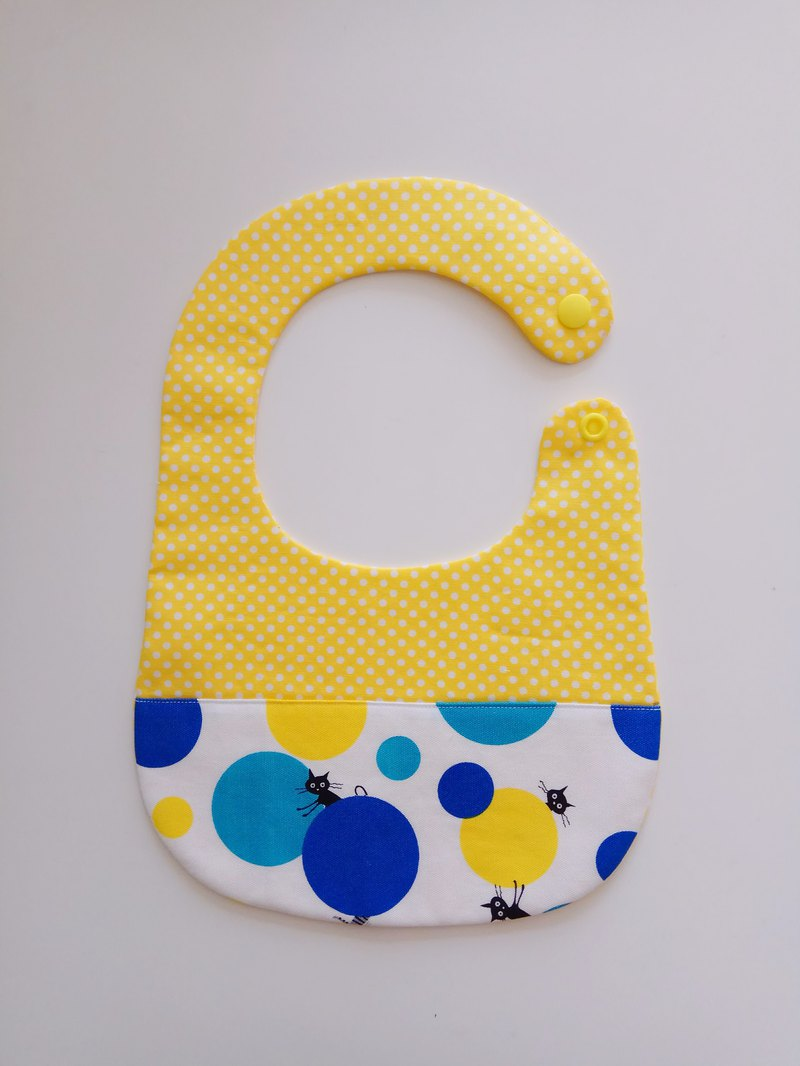 <Blue> Cat Playing Ball Mastiff Gift Baby Bib