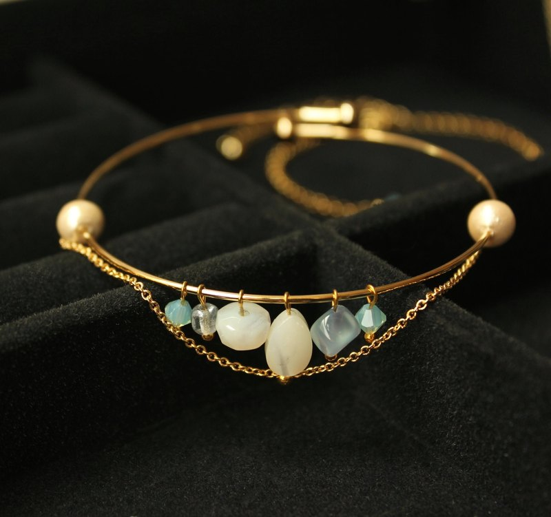 ◆hippie◆ Limited Edition Luxury Charm Multi-gems Golden Bangle