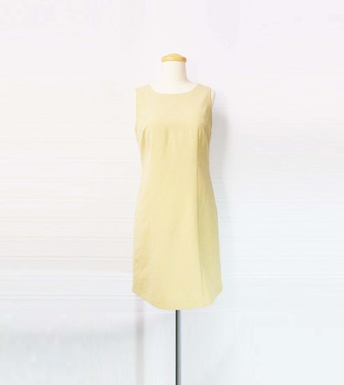Wahr_ beige vest dress