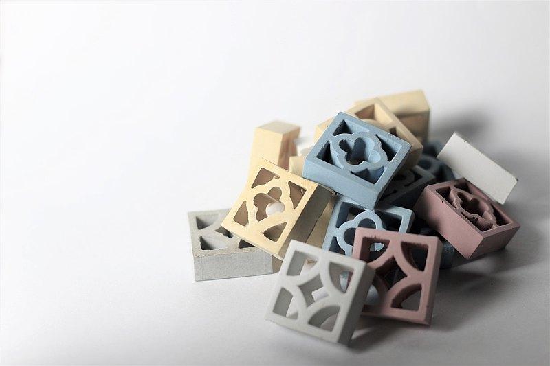 微型古窗花水泥製品(10入一組)