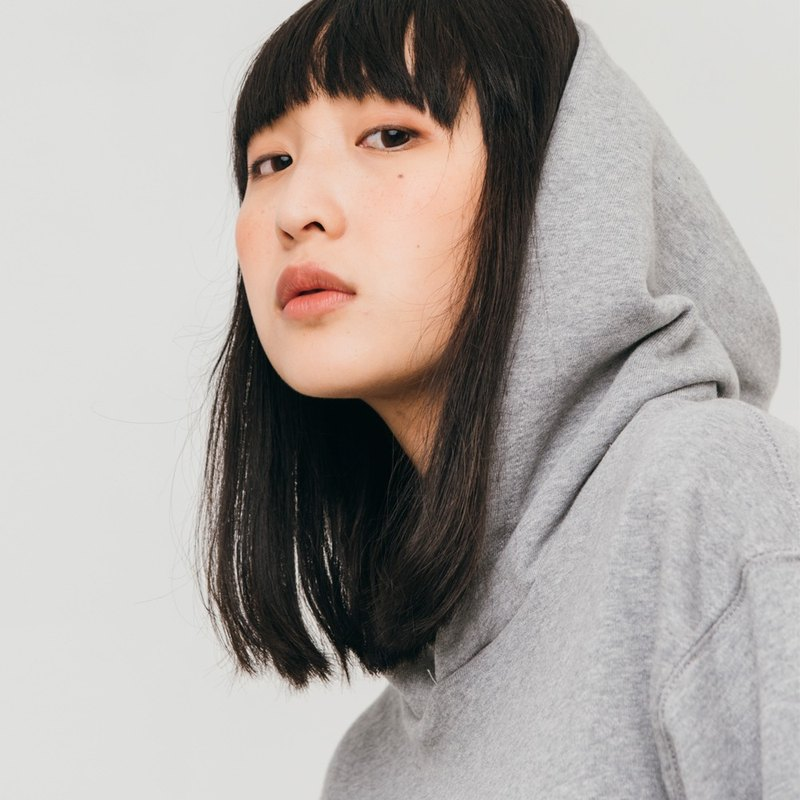 hao Gray Cotton Hoddie 灰色純棉帽T