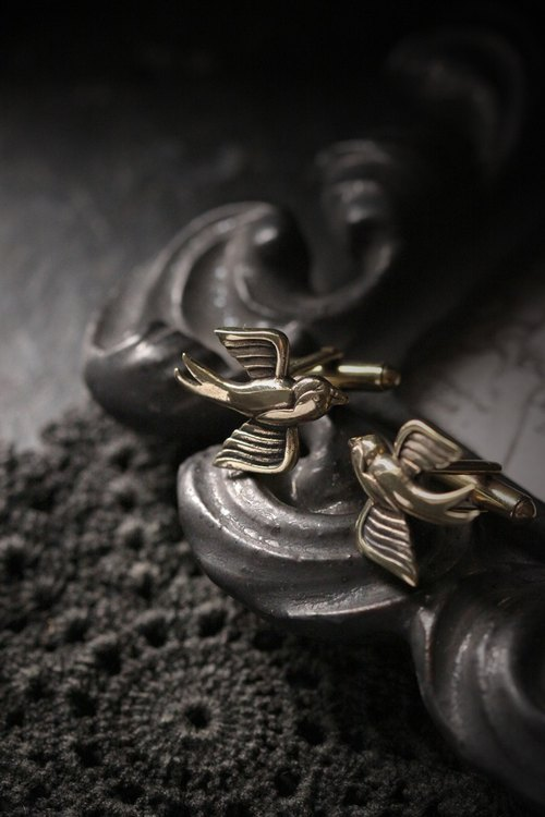 Two Swallows Cufflinks - Original made and designed by Defy - Statement Jewelry