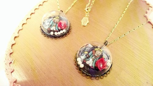§HUKUROU§ glass ball under the stars of the little prince necklace