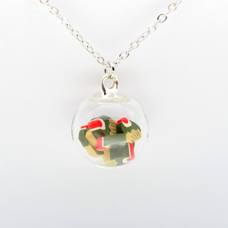 「OMYWAY」Handmade Cake Necklace - Glass Globe Necklace 1.4cm