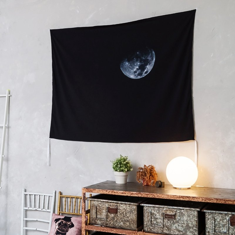 Black Moon- Home Decor Home Decor Wall Mural Wall Tapestry Wall Mural Home Decorations Wall Decorations Interior Decorations Setting - Zakii