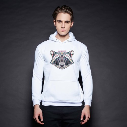 British Fashion Brand [Baker Street] Zentangle CoonPrinted Hoodie