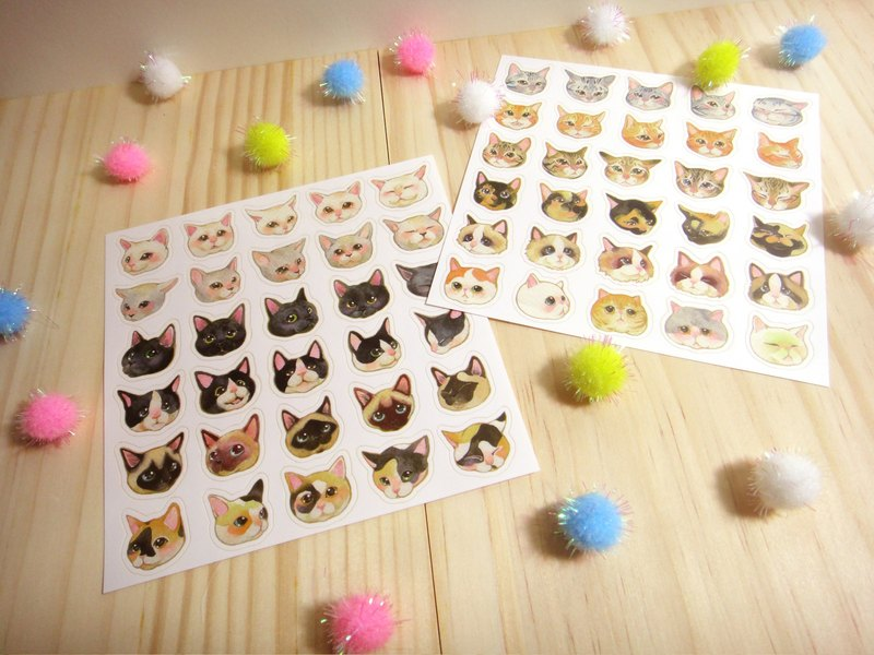 Cat cat big collection sticker pack (including two different)