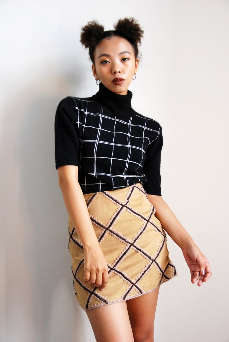 Vintage checkerboard skirt