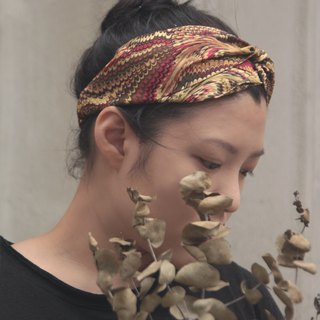 Gold scale limited Japan bronzing cloth handmade cross elastic hair band