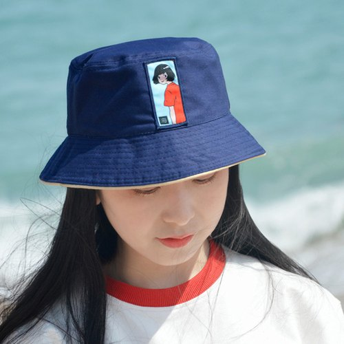 Seaside girl comfort cotton fisherman hat fresh basin cap summer sunhat
