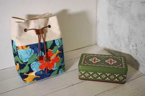 Traveler Series Messenger Bag/ Bucket Bag/ Limited Hand Bag/ Tropical Island/ Pre-order