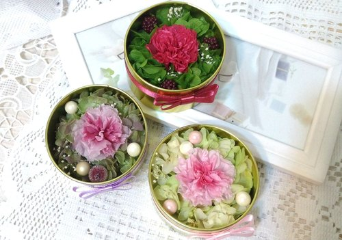l mini window tin box carnation non-Handed l*Mother's Day*thanks*Thanksgiving*decoration*gift*non-withered flower*star flower*immortal flower * exchange gifts