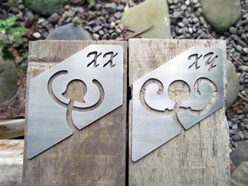 Stainless steel toilet sign, half-length free delivery, dressing room listing, bathroom tag, toilet sign