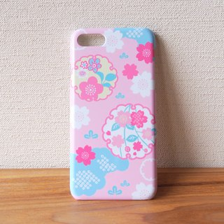Plastic android phone case - Japanese Cherry Blossoms and Snowy Crystals -
