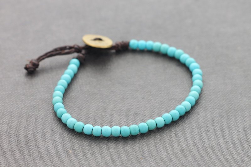 Turquoise Beads Bracelets Basic Minimal Unisex Adjustable
