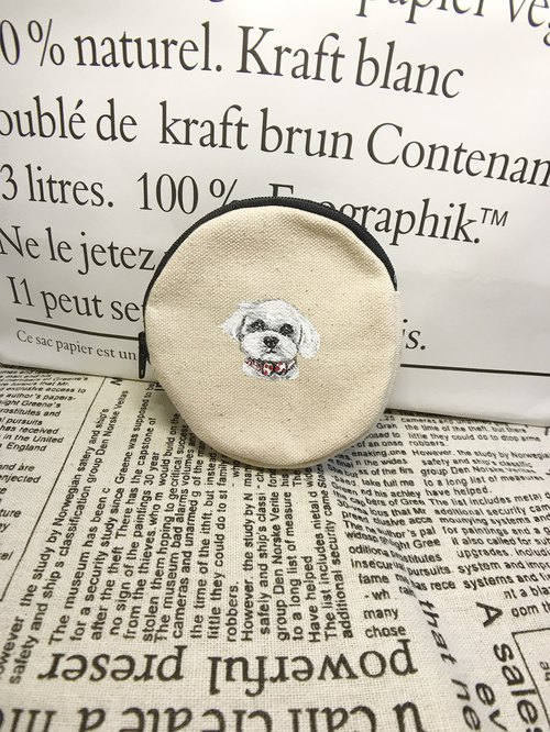 Hand-painted coin purse