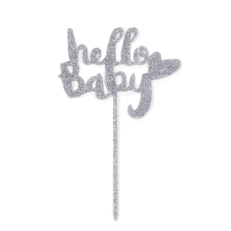 蛋糕插牌 Hello Baby字樣