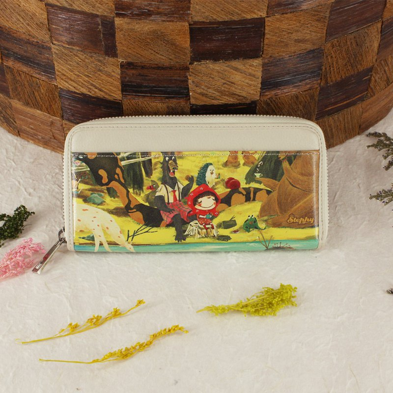 Stephy Designer  Fairy Story Cute Art Design Printed Long Wallet, Zip Wallet,