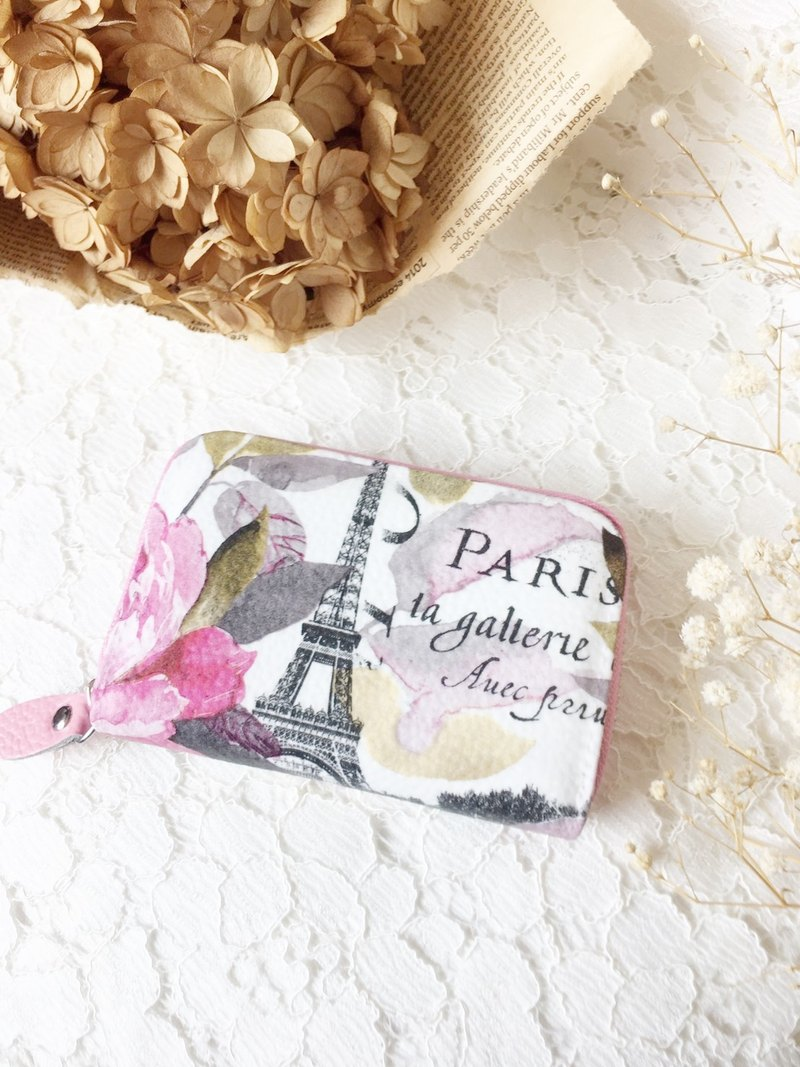Hand for gift card package spring paris