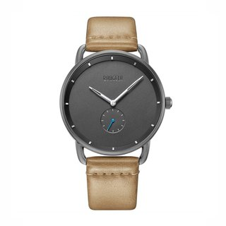 BAOGELA - DOME Black Dial / Light Brown Leather Watch