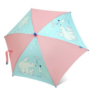 [Taiwan's Cultural and Creative Rain's talk] Umbrella Girl and Polar Bear Child Straight Umbrella