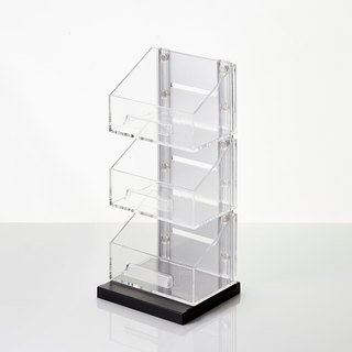 Magnetic Office Supplies Organizer - 3 Tier - Silver