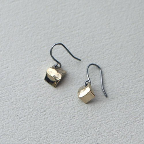 Brass pierced earrings