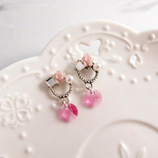 红花瑶 - non-painful U-shaped ear clip stainless steel ear pin silicone ear