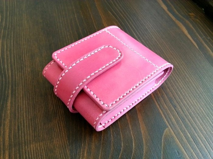 Italian vegetable tanned leather hand made lipstick bag cosmetic bag with small mirror color size can be customized