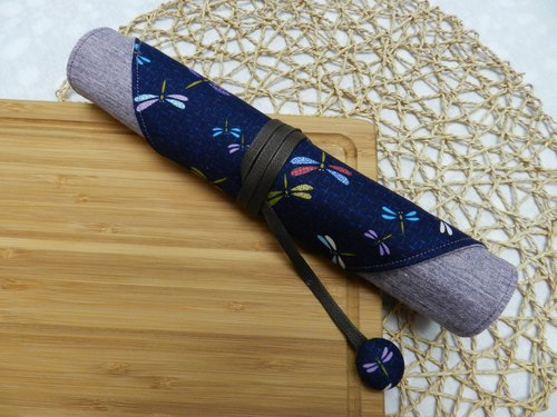 Japanese style purple cloth ~ environmental protection cutlery set / cutlery bag (4 format)